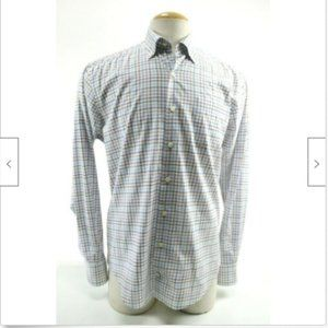 Peter Millar Men's  Dress Shirt Size M EUC